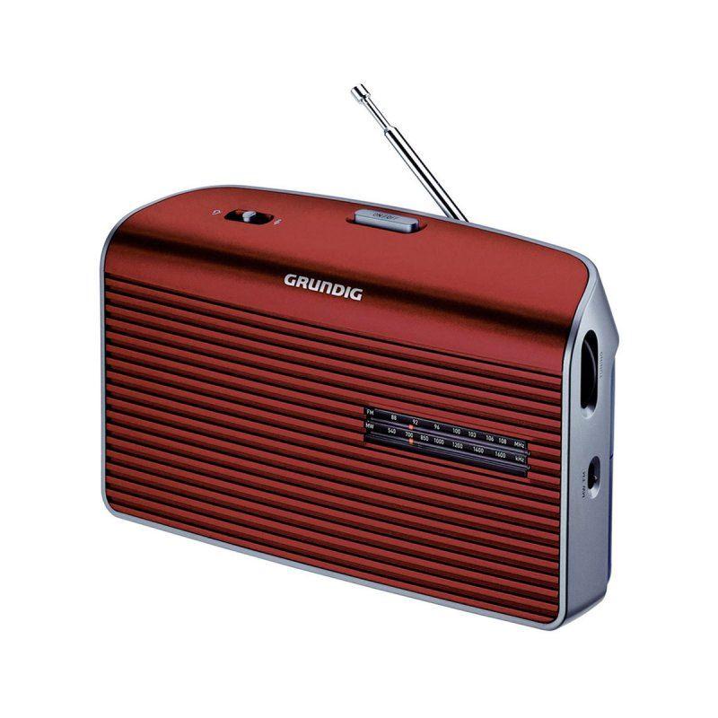 Grundig MUSIC-60 Radio Portátil AM/FM AC-DC rojo - GRUNDIG MUSIC-60 ROJO
