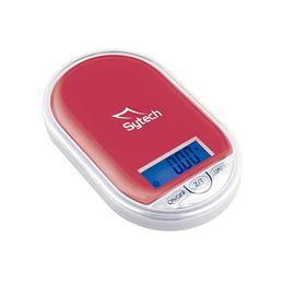 Sytech SY-BS500 Bascula de precisión 100gr Rojo - SYTECH SYBS500 ROJA