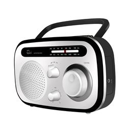 Sytech SY-1657 Radio portatil AM/FM blanco - SY1657B_1
