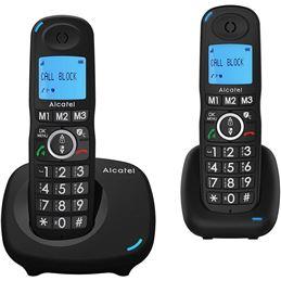 Alcatel XL535 Telefono Dúo Inalámbrico Tec.Grandes - alcatel-xl535-duo-pack-2-telefonos-inalambricos-dect-negros