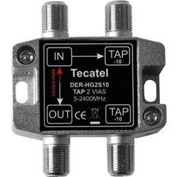 Tecatel DER-HG2S10 Derivador 5-2400MHz 2 SAL. 10dB - DER-HG2S10.
