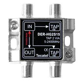 Tecatel DER-HG2S15 Derivador 5-2400MHz 2 SAL. 15dB - TECATEL DER-HG2S15