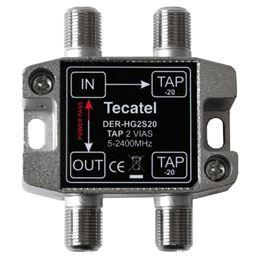 Tecatel DER-HG2S20 Derivador 5-2400MHz 2 SAL. 20dB - TECATEL DER-HG2S20