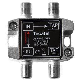 Tecatel DER-HG2S25 Derivador 5-2400MHz 2 SAL. 25dB - TECATEL DER-HG2S25