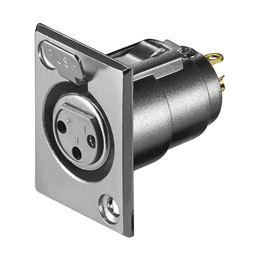 CON644 Conector Canon-XLR hembra 3 pin chasis - con644_v01_01