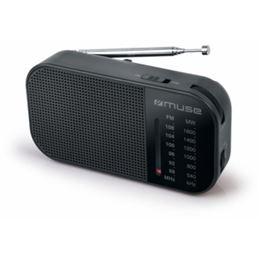 Muse M-025R Radio Portátil AM/FM Negra - Muse M-025R Negra
