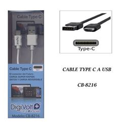 Digivolt CB-8216 Cable usb type-c 1,50m. 2.4A - digivolt cb8216