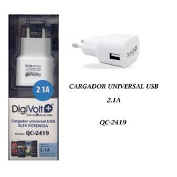Digivolt QC-2419 Cargador Red USB 2.1A - digivolt qc2419