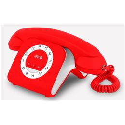SPC 3609R Telefono Fijo Retro Elegance Rojo - SPC TELECOM 3609R