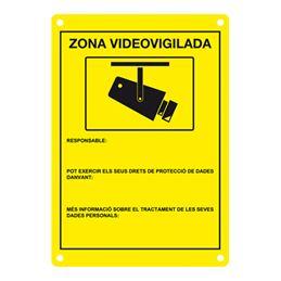 DEM-281C Placa CCTV homologada en catalán - DEM-281C