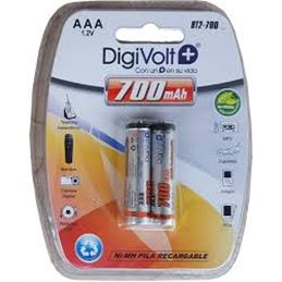 Digivolt HR03 AAA x2 Pila recargable 700mAh - Digivolt-R3-Pila-Recargable-700mAh