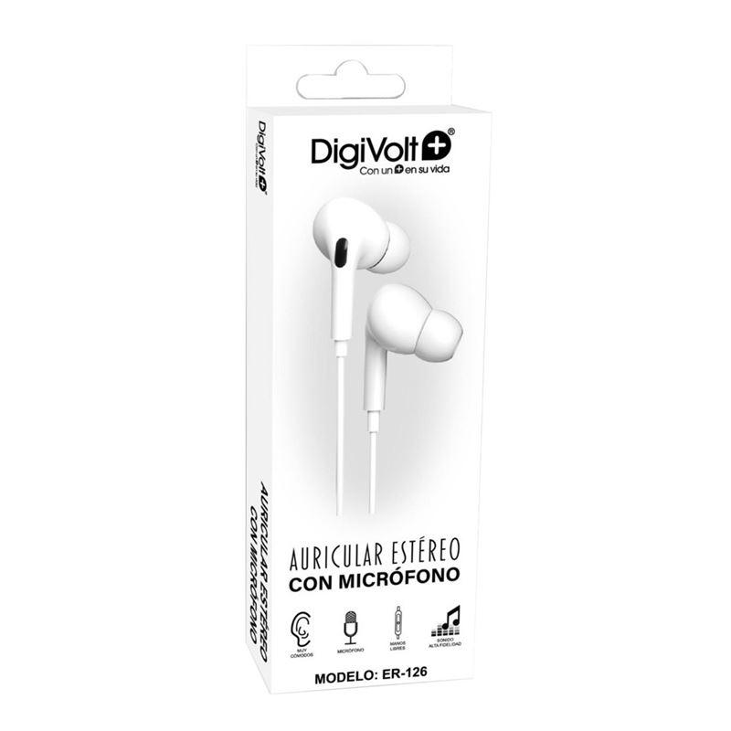 Digivolt ER-126 Auricular Silicona con micro - auricular-intraoido-tipo-ip-microfono-digivolt