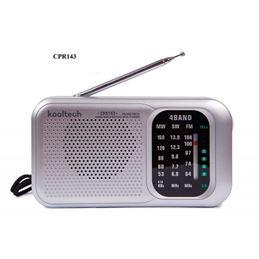 Kooltech CPR-143 Radio portatil 4 bandas AC-DC - kooltech-cpr143