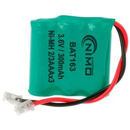 Nimo BAT163 Bateria Ni-Mh 3,6V/300mAh (2/3AAA) - nimoo-bat163