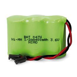 Nimo BAT047N Bateria Ni-Mh 3,6V/400mAh (1/2AAx3) - NIMO BAT047N NI-MH 3,6V 400MAH
