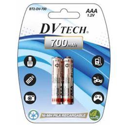 Dvtech BT2-DV-700 Bateria NI-Mh AAA x2 1,2V/700mAh - dvtech_bt2-dv-700_1.