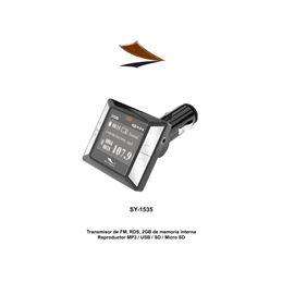 Sytech SY-1535 Transmisor de FM 2Gb. Usb-Sd - SYTECH SY-1535