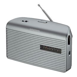 Grundig MUSIC-60 Radio Portatil AM/FM AC-DC Plata. - GRUNDIG MUSIC BOY-60 PLATA