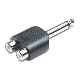 Adaptador Jack 6,35mm mono-macho a 2 Rca hembra - EDC 05-2080