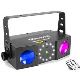 Beamz 153716 Led Terminator IV 2XMoon,Strobe,Laser - BEAMZ 153716