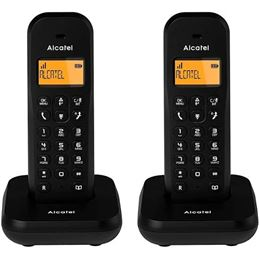 Alcatel E155 Teléfono Dúo Inalámbrico Negro - 3700601420913-1