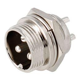 CON1091 Conector GX16 macho chasis 3 pin - con1091