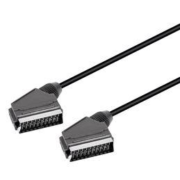 WIR1006 Euroconector M-M 21pin 1,50m. negro - WIR1006 Euroconector M-M 21pin 1,50m. negro