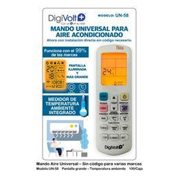 Digivolt UN-58 Mando Universal Aire Acondicionado - MANDO AIRE UN-58