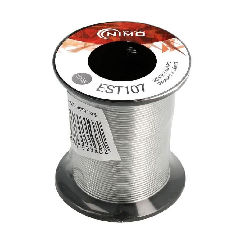 Nimo EST107 Carrete estaño 1mm. 60/40 100gr. - Nimo EST107 Carrete estaño 1mm. 60-40 100gr.