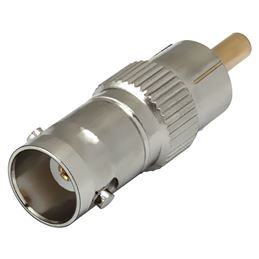 CON666 Adaptador Bnc-H/Rca-M metal - CON666 Adaptador Bnc-H Rca-M metal