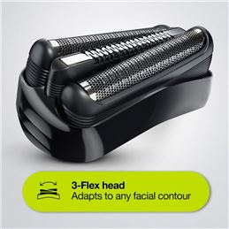 Braun 300S Afeitadora eléctrica recargable negra - pdp-mpg-series-3-3-flex-head