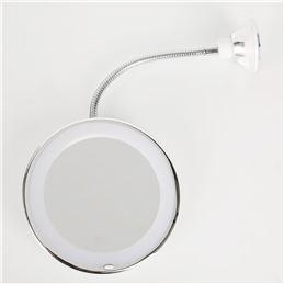 Espejo de brazo flexible, ventosa y luz FGML-1312 - 18-fgml-1312_art_1000px
