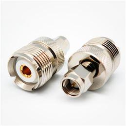 Adaptador SMA hembra a UHF (PL) hembra JR-6883GP - adaptador-sma-macho-a-pl-hembra