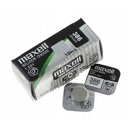 Maxell 386/SR-43W Pila óxido plata x1 - MAXELL-386-SR-43-W-SR43W-SR1142W