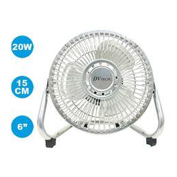 """Dvtech DV-424 Ventilador Suelo 15cm 6"""" 20W - dvtech-ventilador-sobre-mesa-6-15cm-metal-220v-dv-424"""