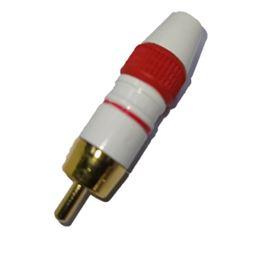 Conector RCA macho metálico lacado rojo - conector-rca-rojo-metal-lacado-rojo-1