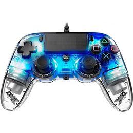 Nacon Mando consola PS4 con cable Iluminado Azul - nacon-ps4-light-azul-3
