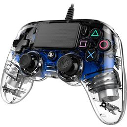 Nacon Mando consola PS4 con cable Iluminado Azul - nacon-ps4-light-azul-1