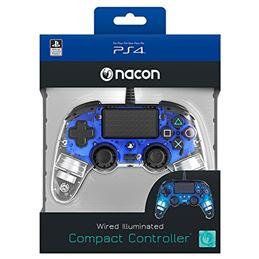 Nacon Mando consola PS4 con cable Iluminado Azul - nacon-ps4-light-azul-4