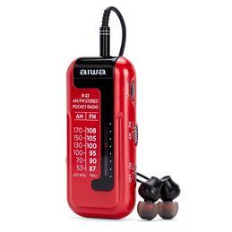 Aiwa R-22 Radio AM/FM Mini con Auriculares rojo - aiwa-radio-am-fm-a-pilas-mini-con-auriculares-r-22 (7)