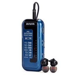Aiwa R-22 Radio AM/FM Mini con Auriculares azul - aiwa-radio-am-fm-a-pilas-mini-con-auriculares-r-22 (5)