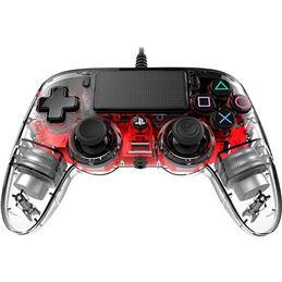 Nacon Mando consola PS4 con cable iluminado Rojo - Nacon Mando consola PS4 con cable Transparente_rojo_3
