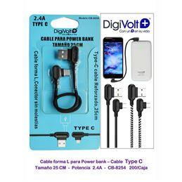 Digivolt CB-8254 Cable Tipo-C Power Bank 0,25cms. - DIGIVOLT CB-8254