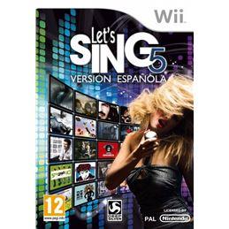 Let´s Sing 5: Version española - Juego Wii - Lets_Sing_5_-_Version_Espanola_portada_wii.