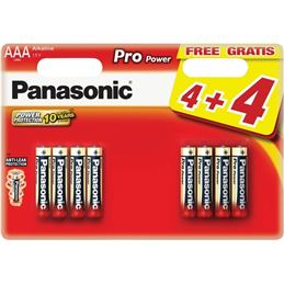 Panasonic LR03 Pila Alcalina Pro Power AAA x8 - 8_x_Panasonic_Alkaline_PRO_Power_LR03_AAA_blister