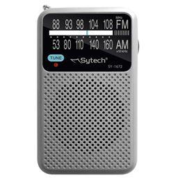 Sytech SY-1672 Radio Portátil AM/FM Plata - SY1672PL_1