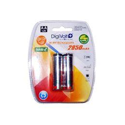 Digivolt BT2-2850 Pila Recargable AA 2850mAh x2 - digivolt-bateria-recargable-2850mah-r6-aa-1-2v-blister-de-2-pilas