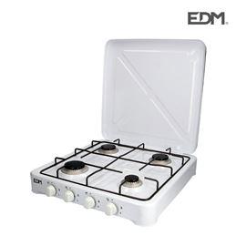 Edm 07422 Cocina de gas esmaltada de 4 fuegos - 07422