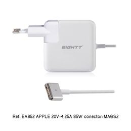 Eightt Cargador portátil comp. Apple 20v/4,25a - eightt-cargador-compatible-apple-20v-425a-85w