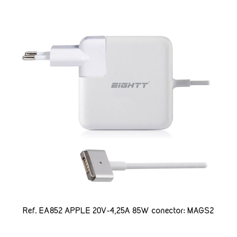 Eightt Cargador portátil comp. Apple 20v/4,25a - eightt-cargador-compatible-apple-20v-425a-85w